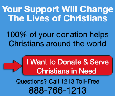 I want to donate and serve Christians in need